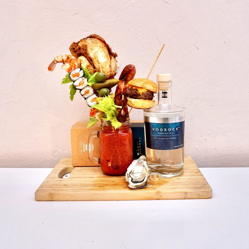 Bloody Mary Burger garnish
